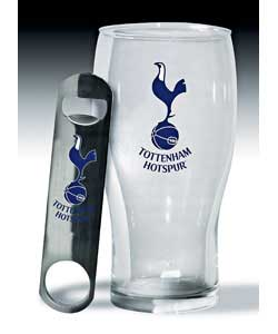 Hotspurs Pint Glass and Bottle Opener