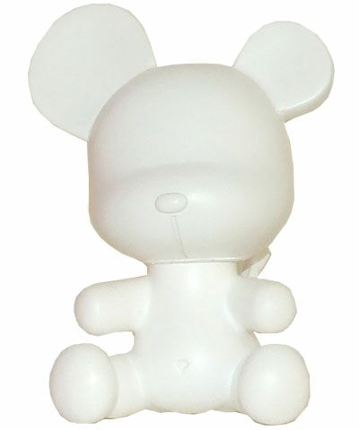 3.5 Baby Qee DIY Devil Bear White