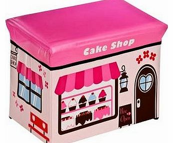 Childrens Large Toy Box / Storage Seat - Cake Shop