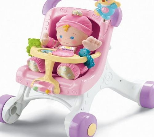 Fisher-Price Brilliant Basics Stroll-Along Walker CustomerPackageType: Standard Packaging Plaything, Amusement, Play, Toys, Game