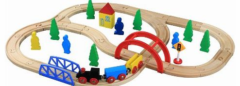Wooden Train Set (40 Pieces)