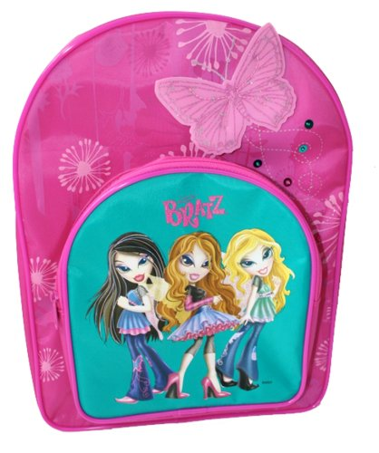 Bratz Pixie Butterfly Arch Backpack Pink with front pocket