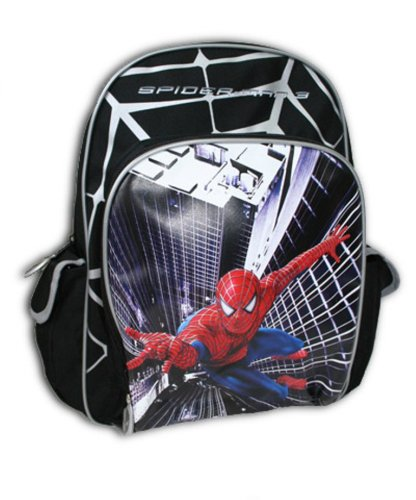 Spider Man 3 Large Backpack Red and Black