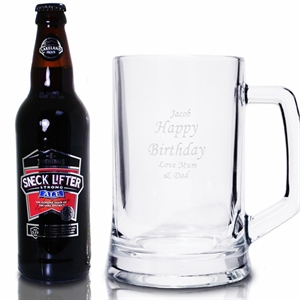 Ale and Personalised Tankard Gift Set