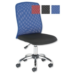Trexus Blue Mesh Operator Chair Tilt-action Back