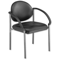Trexus Hamilton Side Chair Leather Look