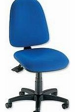 Office Operator Chair Asynchronous High Back H510mm W465xD450xH425-540mm Blue