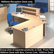 Trexus Reception Desk W1600xD800xH720mm Oak