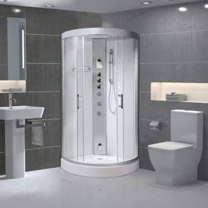 Alto 90 Quadrant Steam Shower Cabin 900x900