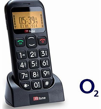Jupiter O2 Pay As You Go Big Button Easy Senior Mobile Phone with SOS Panic Button and Large Display