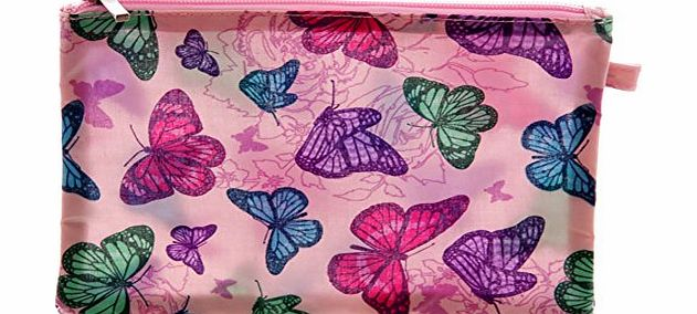 Beautiful Pink Butterfly Design PVC Coated Cosmetics Bag. A perfect gift for that Birthday Gift, Christmas Present or Fathers day gifts etc...