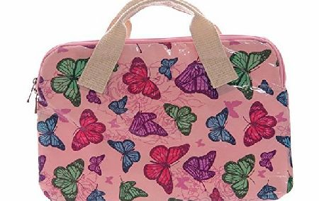 Beautiful Pink Butterfly Design PVC Coated Laptop Bag. A perfect gift for that Birthday Gift, Christmas Present or Fathers day gifts etc...