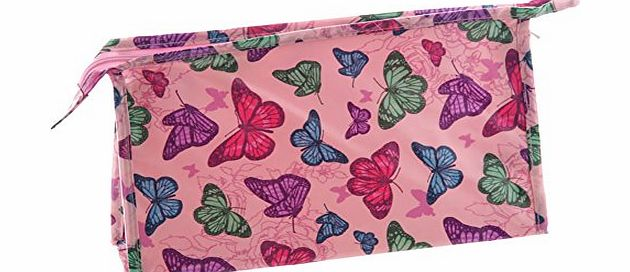 Beautiful Pink Butterfly Design PVC Coated Wash Bag. A perfect gift for that Birthday Gift, Christmas Present or Fathers day gifts etc...