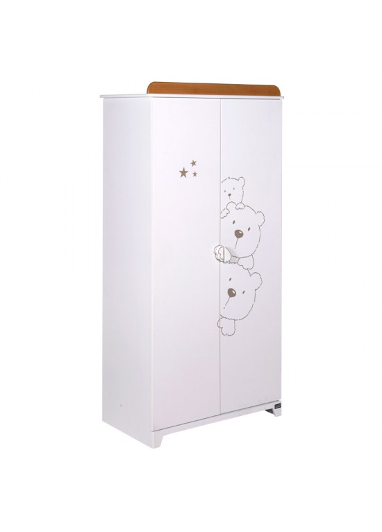 3 Bears Wardrobe-White