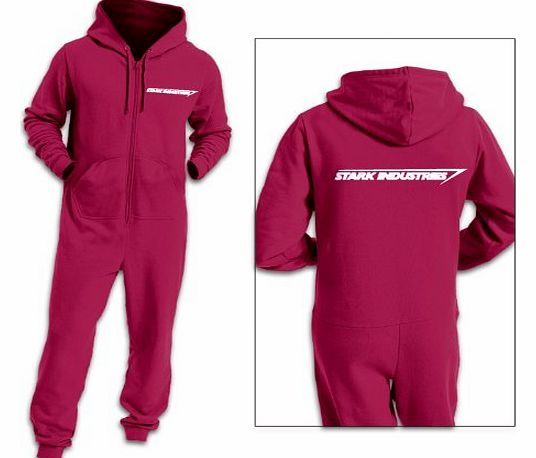 Stark Industries Adult Onesie - - Hot Pink Large/XLarge(40/42`` Chest)
