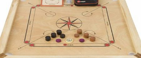 Carrom Set - Great value carrom boards with mango wood edges a 4mm thick polished mango wood playing surface. Weighs 7kg, has a total size of 33`` x 33``, a playing surface of 29`` by 29``. Includes coins