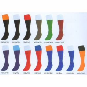 Contrast Turnover Top  Sock