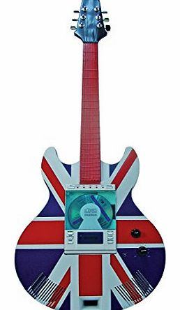 Guitar CD Player Bluetooth Remote Control CD/ MP3/ USB/ FM Digital Radio, Bluetooth Connectivity (Union Jack)