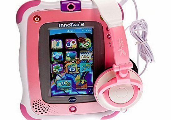 UltimateAddons Ultimate Addons Kids Pink Small DJ Style Folding 3.5mm Headphones for vTech Innotab 1 2 2s 3 3s 3 Plus and 3S Plus