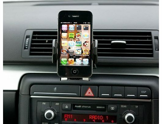 Ultimate Addons Pro Swivel Air Vent V2 Car Kit Mount with Black Holder for most Mobile Phones