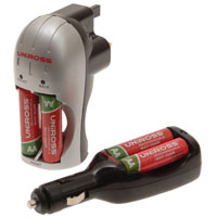 UNIROSS Battery Charger Set with AA Batteries