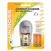 Uniross Compact AA and AAA Battery Charger   4