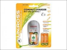 Uniross Compact Battery Charger   4 AA Batteries