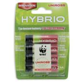 uniross Hybrio 4 x AA Pre Charged Rechargeable