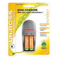 Uniross Mini AA and AAA Battery Charger   2 AA