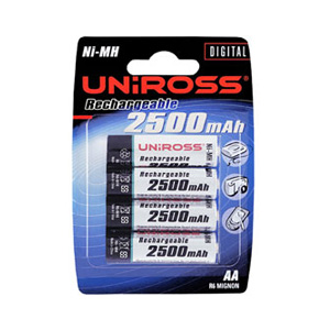 Rechargeable Batteries - 4 x AA 2500mAh