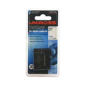 High quality Li-Ion rechargeable Uniross branded replacement camera / camcorder battery.