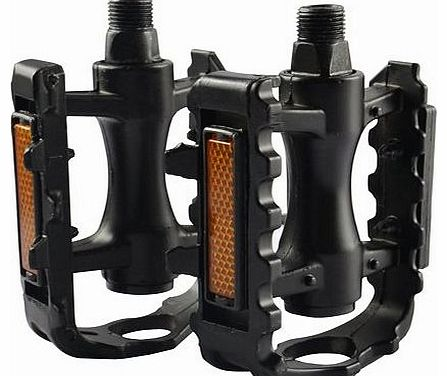 1x PAIR BICYCLE CYCLE BIKE PEDALS REFLECTOR 9/16in BMX MTB MOUNTAIN