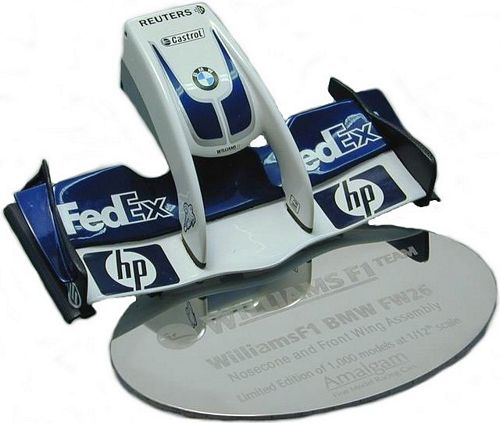1:12 Scale replica of the infamous Williams FW26 Nose Cone. The design was produced to take