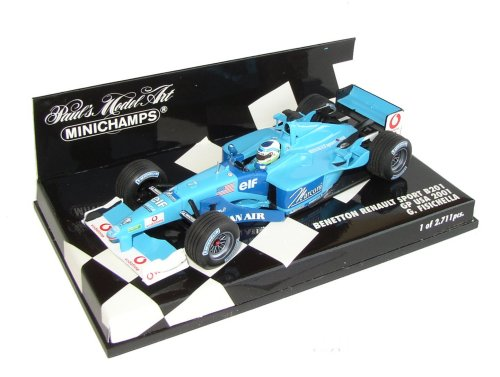 1:43 Scale Benetton Renault B201 USA GP 2001 - Ltd