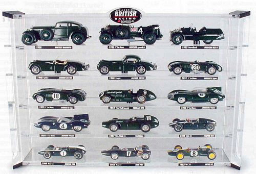 A Set of fifteen 1:43 scale British racing green c