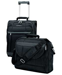 Material 1680D Nylon.Colour black. Business Case comprises :2 compartments, 1 flap pocket and 4 exte