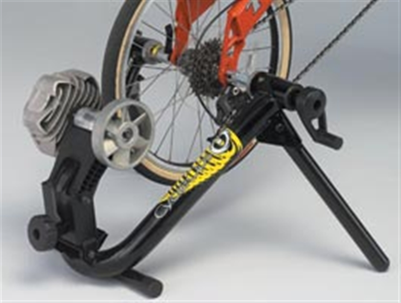 Now you can hook your BMX or recumbent bike to your trainer. Raises the resistance unit up to wheel
