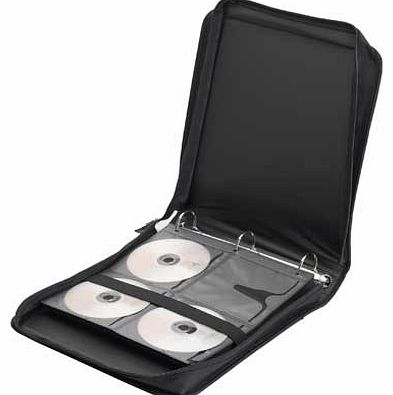 The perfect storage solution. this compact wallet is great for storing up to 208 CDs or DVDs. With a simplistic black exterior. this lightweight wallet is ideal for travelling and allows you to securely and safely organise and store your CD / DVD col