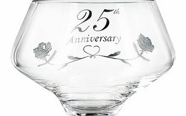 This Stunning Hand Made 25th Silver Wedding Anniversary 24% lead Crystal Bowl is exclusive to A1Gifts   Designed and supplied by Amador Designs  Specialist UK designers in quality occasion gifts. A product we are extremely proud to offer. These have