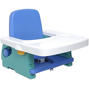 A 100% dishwasher safe booster seat with multiple