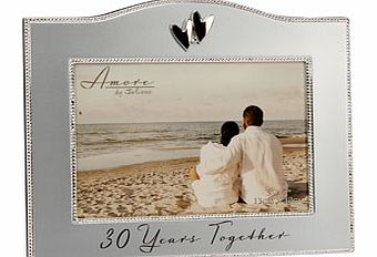 This fabulous simply designed 30 Years Together Pearl Wedding Anniversary 7 x 5 Photo Frame is the perfect gift to give a couple celebrating 30 years of marriage and makes  the ideal place for them to display a photo of the two of them from their Pea