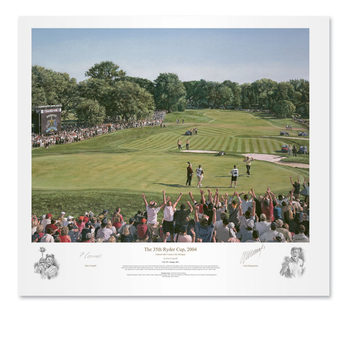 `The 35th Ryder Cup 2004` by Peter Cornwell - a limited edition of 500 prints signed by Colin