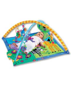 Features musical donkey, turtle mirror, butterfly