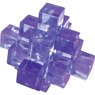 Interlocking 3D puzzles made from tough transparent plastic. The difficulty level varies  but detail