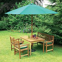 3m. parasol with wind up crank facility. Green