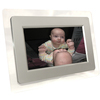 This 7 inch frame looks very stylish with its Silver insert and clear surround. With a resolution of