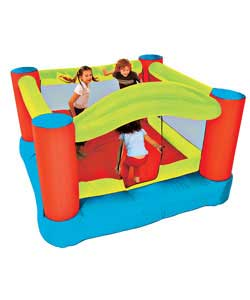 Big 8ft x 8ft airblow bouncy castle.Fully inflates within 2 minutes with the fan included.Safety mes