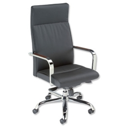Auvergne Executive ArmchairTilt ActionSeat WxDxH: 505x485x485mmBackrest Height: 780mmBlack Leather