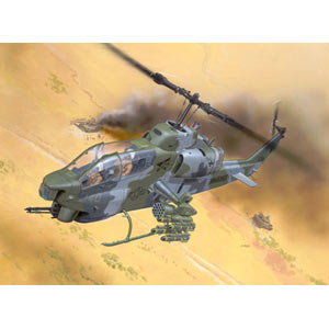 AH-1W Super Cobra plastic kit from German specialists Revell. The Bell AH-1W Super Cobra used by the