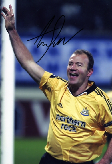 Signed in black pen Toon Army favourite Alan Shearer. Certificate of Authenticity no. 0420000718